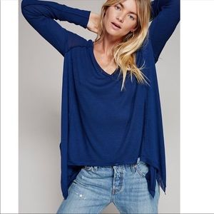 Free People Navy Blue oversized thermal💞